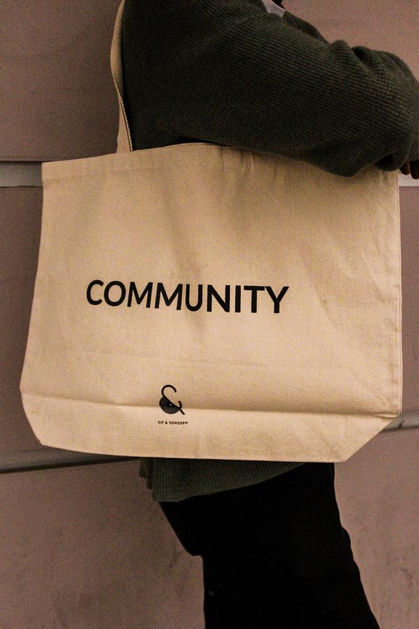 Sip _ Sonder Signature Community Tote Bag - Side 1