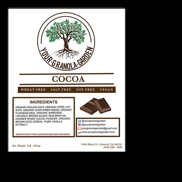 Your Granola Garden - Cocoa Granola Ingredients
