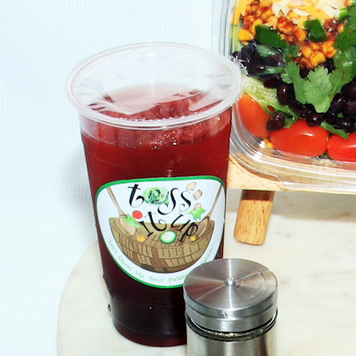 Toss It Up Salad - Raspberry Hibiscus Lemon Tea