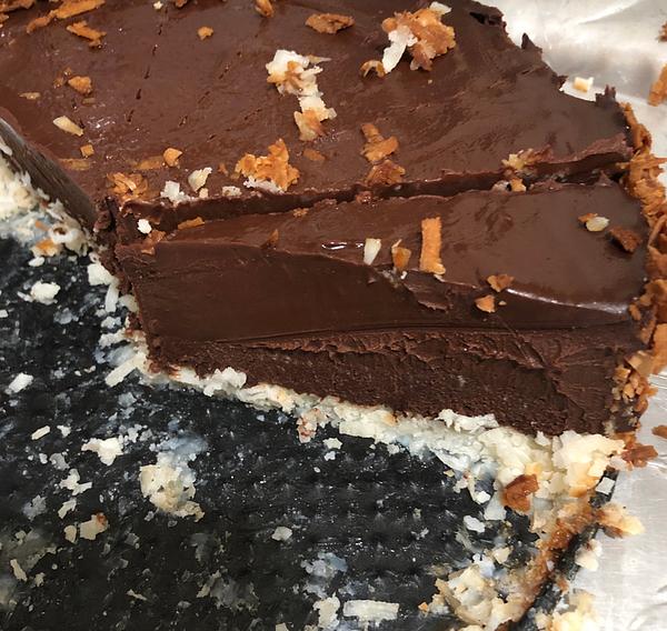 Dark Chocolate Ganache mud pie- My Daddy's Recipes