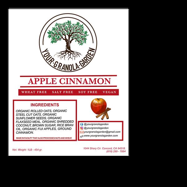 Your Granola Garden - Apple Cinnamon Ingredients